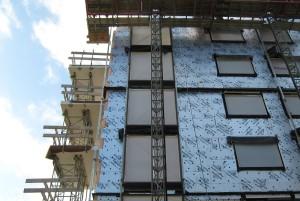 Vleuterweide, Utrecht (2012). Realisatie van een hoogwaardige thermische schil binnen de gebruikelijke geveldikte door toepassing van isolatiemateriaal met gunstige thermische kwaliteit.