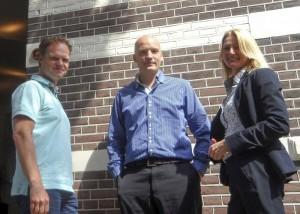 Het team van Orga (v.l.n.r.): Patrick Schreven, Daan Bruggink en Renée Petiet.