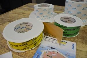 Corvum, Rissan, Sicrall, Fentrim; het assortiment van Siga bestaat uit diverse tapes voor verschillende toepassingen.