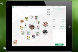 Met de app kan een bewoner nauwkeurig zijn thuissituatie en gedrag invoeren voor een maatwerkadvies.