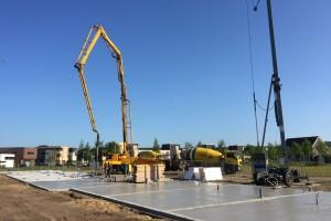 Het project van Lamers in aanbouw, begin juni 2015.