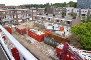 Vrijkomende materialen worden op de bouwlocatie door Oranje B.V. gescheiden.