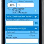 facturen, app