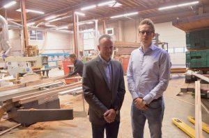 Remco Spiering (l) en Jeroen Vonk van Coen Hagedoorn Bouwgroep zijn grote aanhangers van RGS.