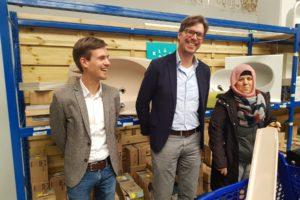 Initiatiefnemers Bas Slager (links) en Gijsbert Jansen (midden).