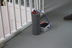 Het prototype van de versnelde meetmethode voor luchtdichtheid zoals gedemonstreerd in de NeroZero-woning. (Foto: Paul Diersen)