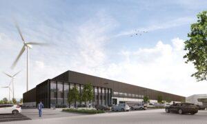 Impressie van het nieuwe distributiecentrum in Dordrecht.