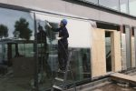 Spuitbare folie beschermt ramen